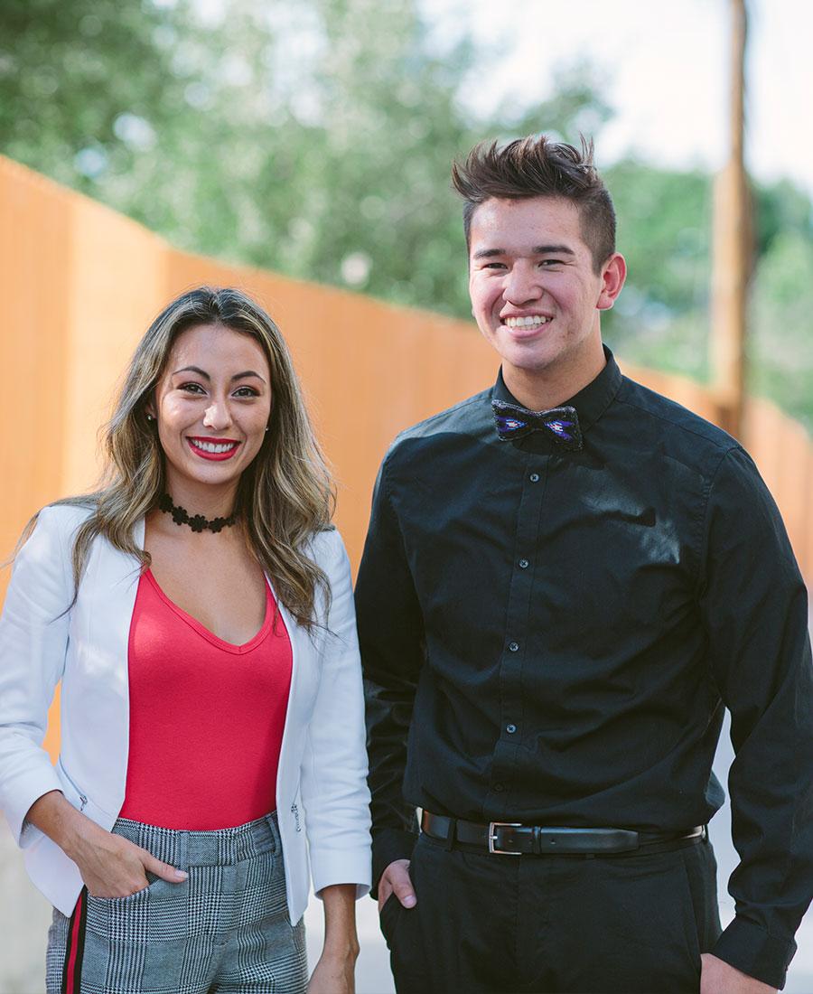 College Fund scholars Margarita and Hamilton